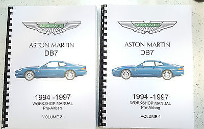 Aston Martin Db7 Workshop Manual 94-97 (Pre Airbag) Reprinted Comb Bound