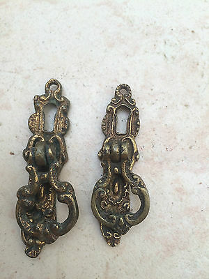 2 Small Antique Cupboard Handles