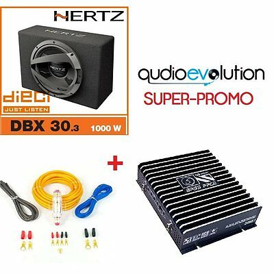 Subwoofer hertz db30.3 + amplificatore bass face db2.1 con kit cavi omaggio