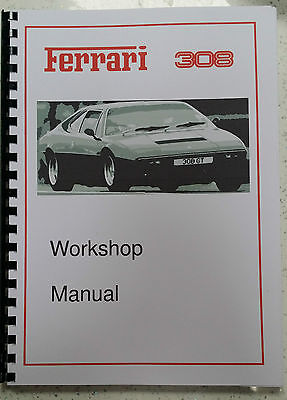 Ferrari Dino 308 Gt4 Workshop Manual Reprinted A4 Comb Bound 207 Pages