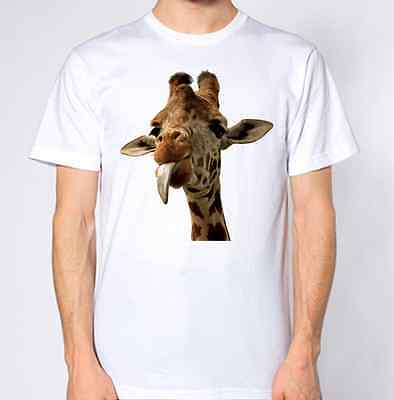 d8cb7ef0 Giraffe T-Shirt Animal Lover Graphic Design Top Tongue Cheeky Funny  Hilarious