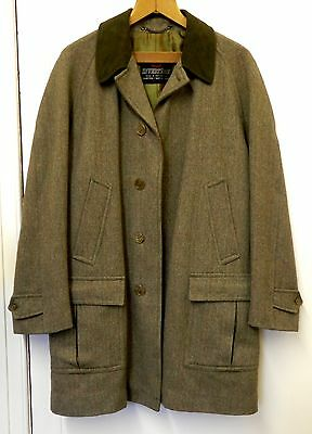"Vintage Invertere Heavyweight Wool Tweed Field Coat: 46"" Chest: Excellent"