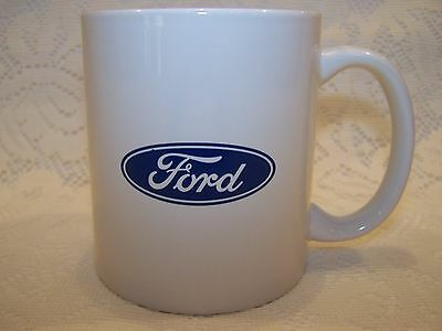 Ford Coffe Cup Mug White With Blue Oval Logo