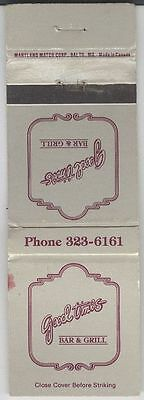 Matchbook Cover - Good Times Bar & Grill