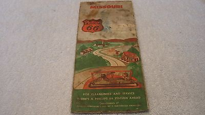 Phillips 66 Road Map of Missouri from the 1940s