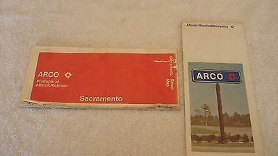 1971 ARCO (Atlantic Richfield) Road Map of Sacramento