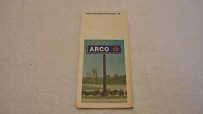 1971 ARCO (Atlantic Richfield) Road Map of Oakland