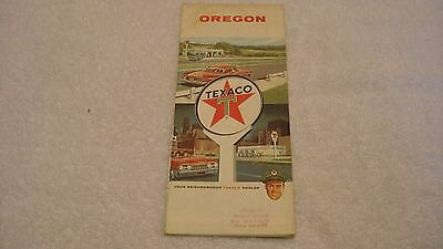 Texaco Road Map of Oregon from 1963