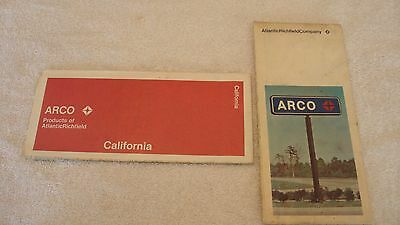 1972 ARCO (Atlantic Richfield) Road Map of California