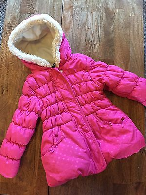 pink coat polka dot from george age 3-4 years