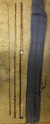 Vintage Spilt cane coarse fishing rod by Henry W Aitken 11ft 6""