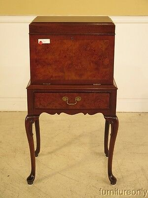 F28062: HICKORY Queen Anne Mahogany Fall Front Silverchest