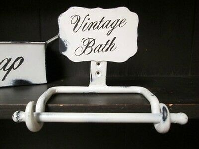 PRIMITIVE DECOR  - Vintage Distressed Iron Toilet Paper Holder~ FARMHOUSE