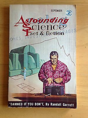 Vintage Astounding science fact and fiction pulp magazine September 1960
