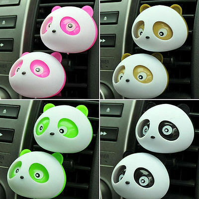 1Pc Air Vent Outlet Stent Panda Air Freshener Perfume Diffuser For Car Vehicle