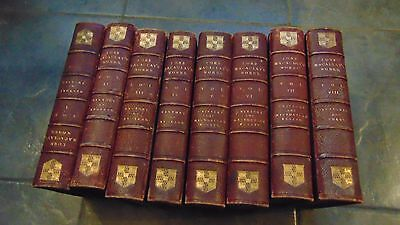 1871 Leather Bound 8 Vols. The Works Of Lord Macaulay Complete In Vgc