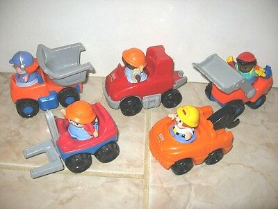 Little People Fisher Price 5 Vehicules Camion Sonore Depanneuse + 5 Personnages