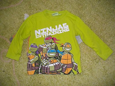T-Shirt...polo Manches Longues Garcon T.3 Ans ...tortues Ninja