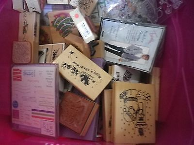 craft clearout,box rubber and clear stamps,collect only