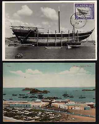 SoD Aden MA'ALA 2  PPC's one photo with DHOW under repair used 1960 to Khormaksa