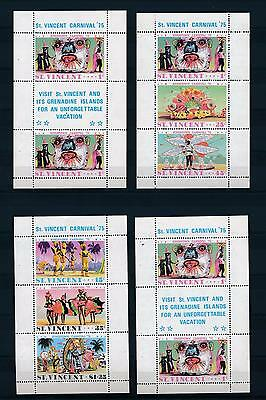 [35618] St. Vincent & Grenadines 1975 Carnival 4 Sheets from Booklet MNH
