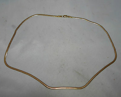 Vintage 9ct Yellow Gold Snake Link Necklace 41cm 7.16g