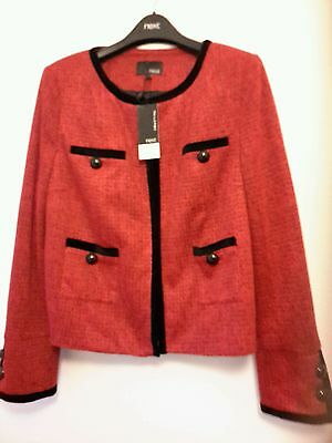 ladies next  red jacket with black piping  size16