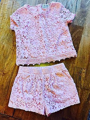 Next Girls Lace Pink Out Fit Age 3
