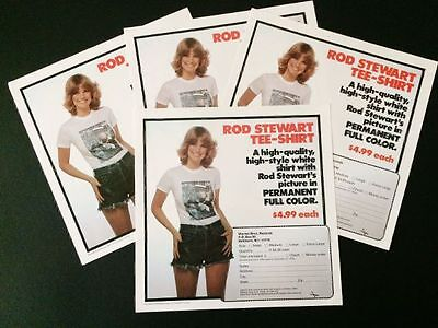 Rod Stewart - Rare 1976 Promo Record Insert - EX. COND. 4 Available !!!!