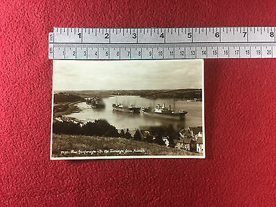 Free Anchorage Up the Torridge Instow merchant ships real period photocard