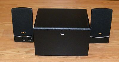 Genuine Cyber Acoustics 3-Piece Subwoofer System w/ AC Adapter & Speakers ONLY