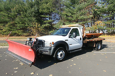 2007 Ford Other Pickups XL Cab & Chassis - Long Conventional 2-Door NO RESERVE Diesel Powerstroke Ford F-550 Plow 4x4 salt spreader dump western