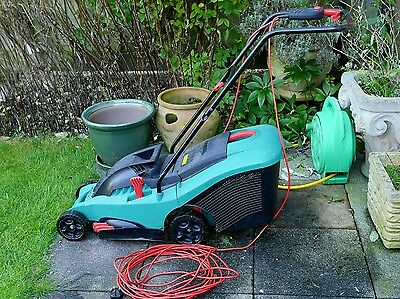 Bosch Rotak 34 Electric Lawnmower 1400W + Grassbox
