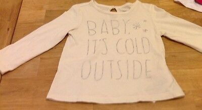 white long sleeved t-shirt by baby gap for girl 18-24months