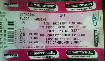 Christina Aguilera Concert Tickets(Back to Basics tour) - in Newcastle