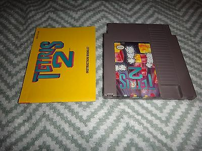 Tetris 2 NES Nintendo Cart and Manual CI not CIB