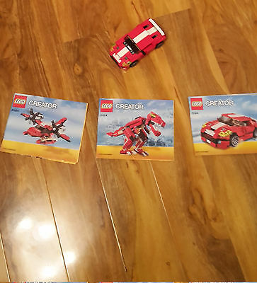 Lego Creator 31024 Car plane and dinosaurus with instructions