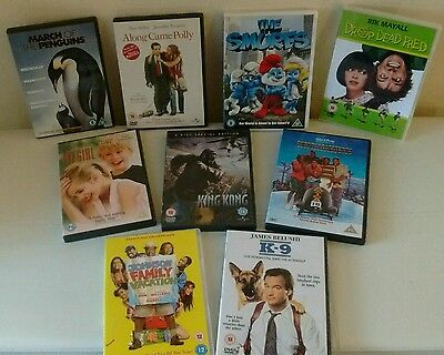 Dvd Bundle Family Entertainment/Comedy x9 Movies