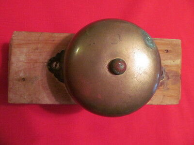 Antique 1899 Metal and Brass Door Bell Works