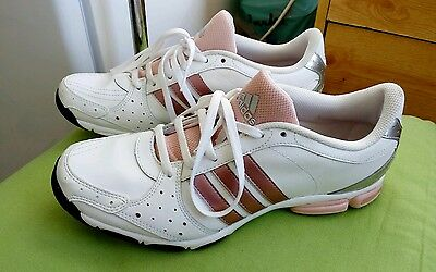 Adidas ladies leather trainers size UK7, worn once.