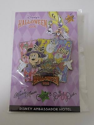 Halloween 2016 Disney Ambassador Hotel LE Pin Mickey Donald