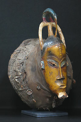 African Tribal Art : Mask from the Guro People of Cote d'Ivoire ESTT0032