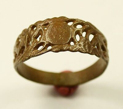 Fantastic Medieval Open-Work Bronze Finger Ring - Amazing Condition - Wearable