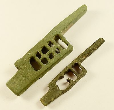 Ancient Roman Bronze Lock Bolt - Lot Of 2