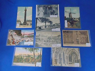 Lot of 9 Postcards - Europe - Germany, Italy, France, Netherlands - LPC120