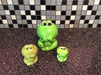 Set Of Ornamental Frogs Used