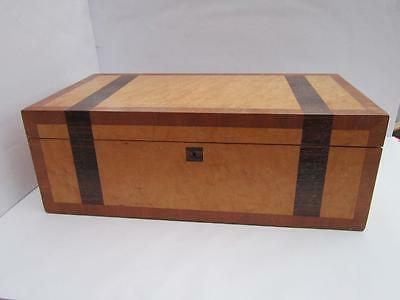A 20Th C Writing Slope Solid Oak  With Rosewood,maple,mahogany Veneers