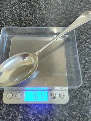 solid silver serving spoon