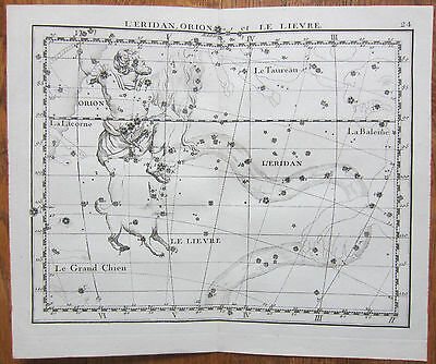 Flamsteed Astronomy Original Celestial Map Orion - 1776