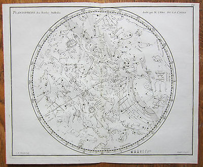 Flamsteed Astronomy Original Celestial Map Planisphere Austral - 1776